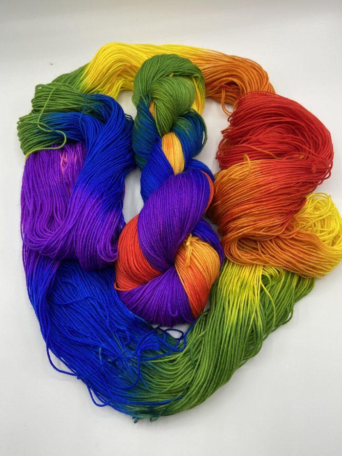 auto sock psychedelic rainbow